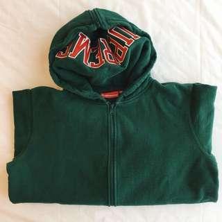 Supreme split zip up hoodie pullover jacket
