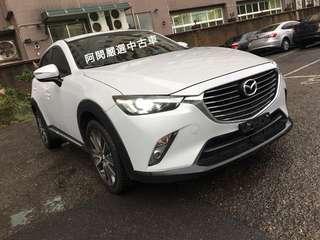 【 FB搜尋阿閔嚴選中古車 】馬自達\CX-3\2016年 CX-3 2.0白 黑內裝