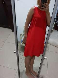 H&M red dress semi gown