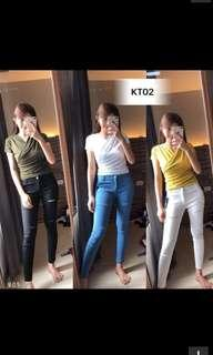 Elastic Long Pants