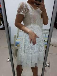 Topshop off white dress