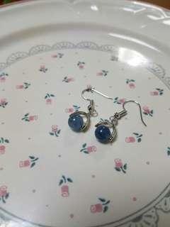 全新包郵 魔鬼海藍寶耳環