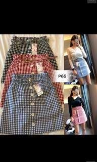 Black and White High Waist Skirt