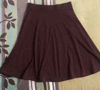 Brown Midlength Skirt