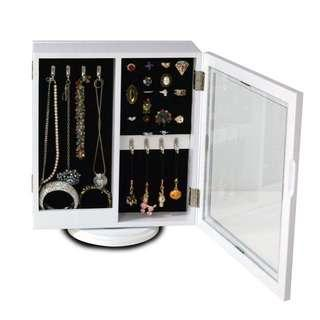 Meridian Point Home Rotating Jewelry Armoire