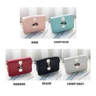 Korean Style Maroon Handbag Sling Bag