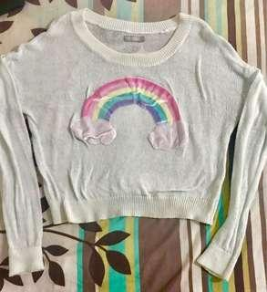 Rainbow Crop Sweater