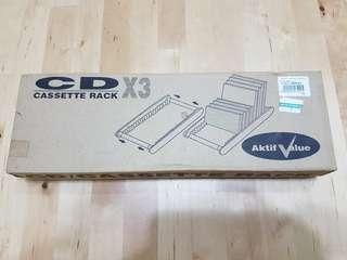 CD/DVD/Cassette Rack x 3