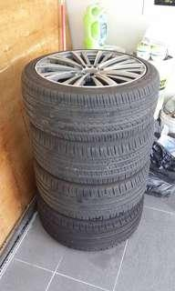 Used rims and tyre for sell