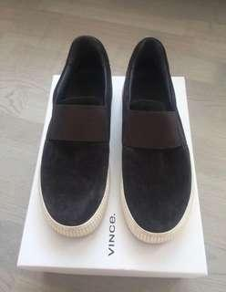 VINCE grey suede slide sneakers (size 7)