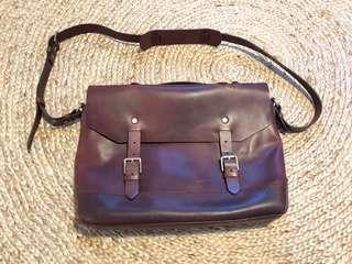 Fossil leather brief case for sale