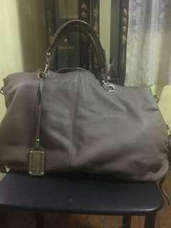 Authentic Ensoen Chocolate Brown Leather bag
