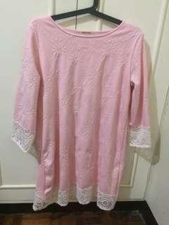 Rose pink knee length dress