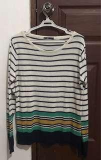 Knitted Striped Long Sleeves