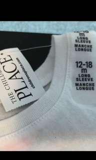 🍒長袖上衣 The children's place long sleeve top size 12-18 months