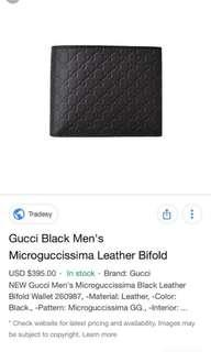 New GUCCI leather WALLET FROM Europe Gucci OUTLET