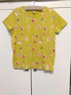 🚚 芥末黃短袖t#十月女裝半價特賣