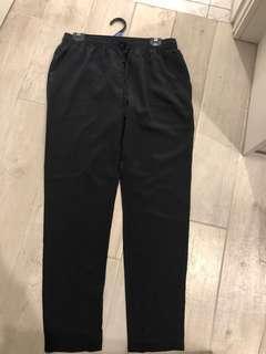 Lee Matthews black silk pants