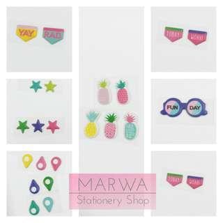 Pineapple, Stars, Navigator,Wafer,Glases  Phone/Planner Sticker Decor