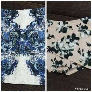 (Offer) Doublewoot fitted skirt & Twenty3 Floral Skorts