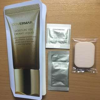 Covermark Moisture Veil Creamy Liquid Foundation & Silky Loose Powder