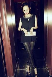 Size 8-10 black chiffon top
