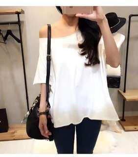 Size 6-12 White T shirt
