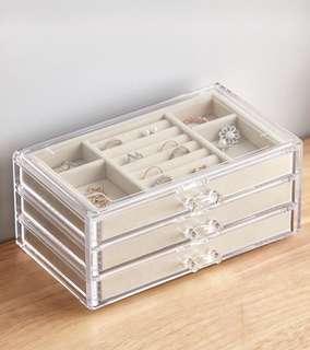 全新三層首飾箱