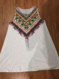 Semi Aztec white Dress