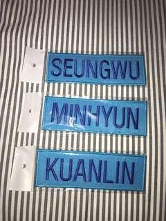 Wanna One - Nametags