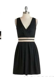 Modcloth Black Dress XS new without tag
