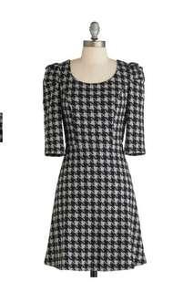Modcloth dress b/w new with tag