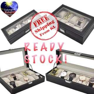 5 / 10 Slot PU Watch Storage Box