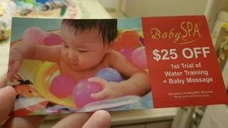BabySPA voucher $25 no expiry date