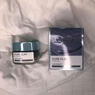 loreal detoxify pure clay mask