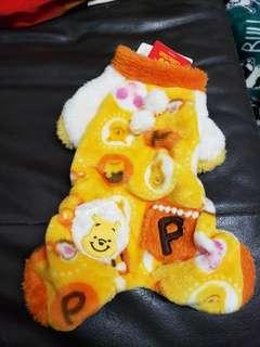 狗衫小熊維尼 毛絨四腳衣 winnie the pooh