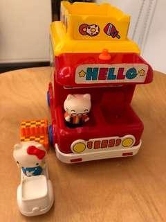 絕版 TOHO Japan Hello Kitty 玩具 巴士