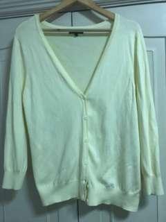 Debenhams cardigan light yellow size 16