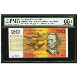Australia Reserve Bank $20 ND (1983) Pick 46d, PMG 65
