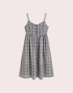 Black Checker Dress