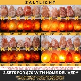 🚚 AUTHENTIC HIMALAYAN CRYSTAL SALT LAMPS | 2 SETS WITH HOME DELIVERY | CLEANSE & PURIFY