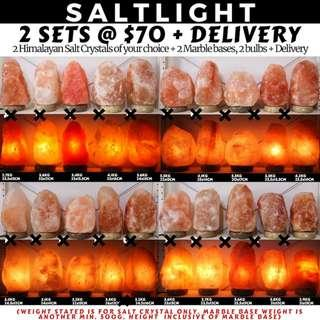 🚚 Authentic Himalayan Salt Crystal Lamps | with home delivery | Natural cleansing properties | 84 essential minerals