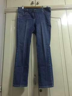 Marks and Spencer Lana straight leg jeans size 14