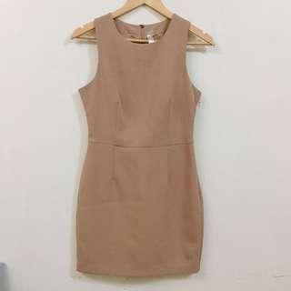 F21 Classy Nude Dress