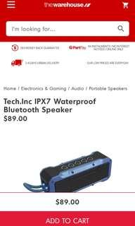 Tech.inc waterproof Bluetooth speaker from NZ