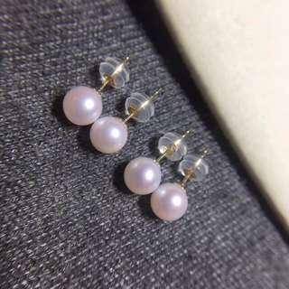 特價18k日本珍珠耳釘耳環