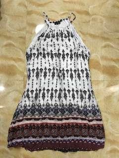 Zalora Printed Halter Dress
