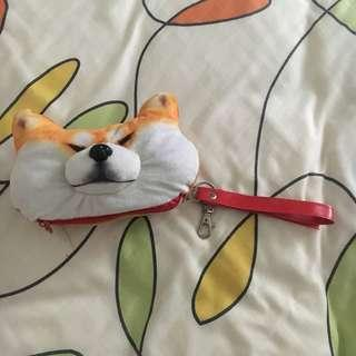 Shiba inu stuffed toy card case