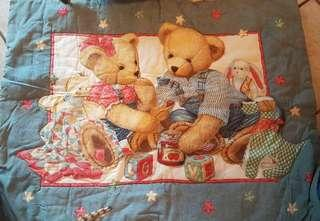 Teddy Bears Quilted Crib Blanket