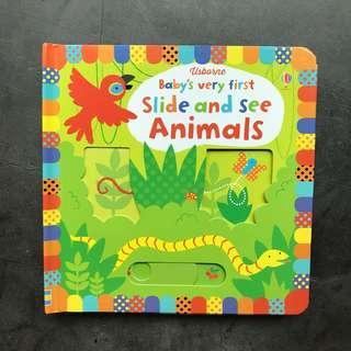 Baby Book Slide and See - Animals